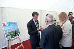 Pictured is Steve Cram signs some autographs after speaking at the Clydesdale Bank/Yorkshire Bank stand at the Lincolnshire Show.<br /> <br /> Steve Cram spent the day at the Lincolnshire Show with Clydesdale Bank and Yorkshire Bank.  He also visited the Sports Zone, at the show, which was organised by Lincolnshire Sport.<br /> <br /> Picture: Chris Vaughan/Chris Vaughan Photography<br /> Date: Wednesday, June 24, 2015