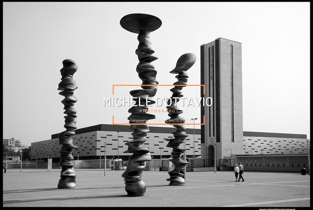 Torino architettura olimpica..palaolimpico Isozaki ..Cragg..