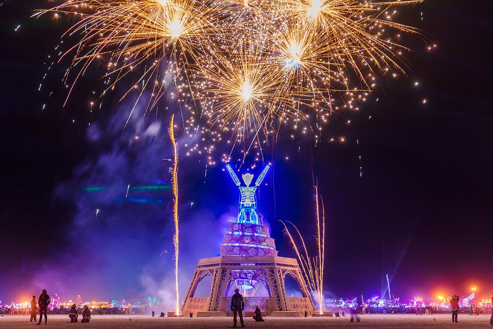 Pyrotechnics at The Man Burn
