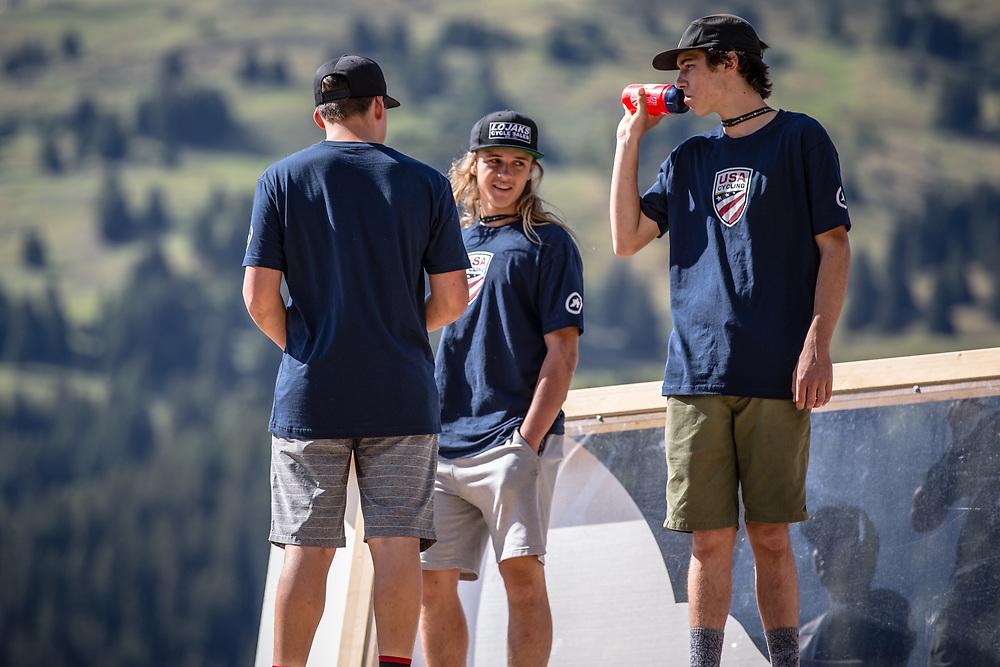 Team USA on Downhill track walk at the 2018 UCI MTB World Championships - Lenzerheide, Switzerland