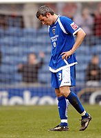 Photo: Paul Greenwood.<br />Burnley FC v Cardiff City. Coca Cola Championship. 09/04/2007.<br />Dejection at the final whistle for Cardiff's Kevin McNaughton