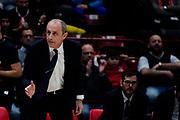 Ettore Messina <br /> A X Armani Exchange Olimpia Milano - Vanoli Cremona <br /> Basket Serie A LBA 2019/2020<br /> Milano 09 February 2020<br /> Foto Mattia Ozbot / Ciamillo-Castoria