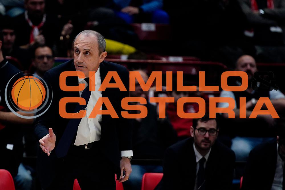 Ettore Messina <br /> A|X Armani Exchange Olimpia Milano - Vanoli Cremona <br /> Basket Serie A LBA 2019/2020<br /> Milano 09 February 2020<br /> Foto Mattia Ozbot / Ciamillo-Castoria