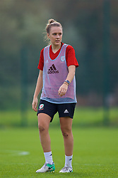 NEWPORT, WALES - Friday, October 5, 2018: Wales' Josie Green during a training session at Dragon Park. (Pic by David Rawcliffe/Propaganda)
