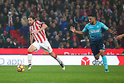 Stoke City midfielder Joe Allen (4)  breaks free during the Premier League match between Stoke City and Swansea City at the Britannia Stadium, Stoke-on-Trent, England on 31 October 2016. Photo by Simon Davies.