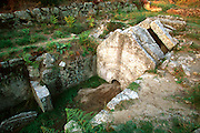 PORTUGAL, NORTH, MINHO Citania de Briteiros, Celtic tomb
