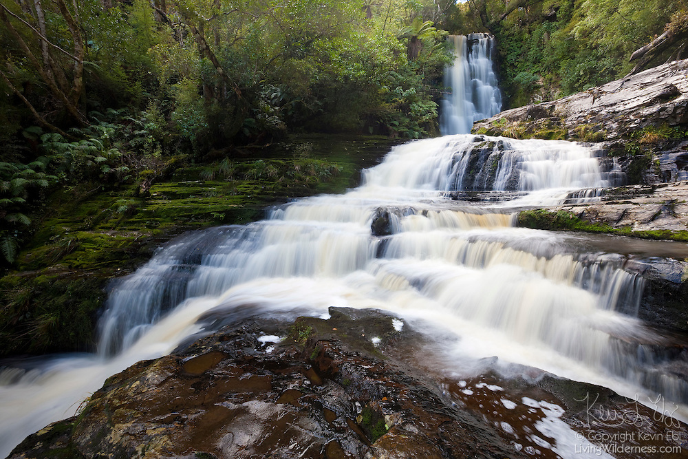 McLean Falls, which drops 22 meters (72 feet), is considered one of the most scenic and popular waterfalls in the Catlins region of New Zealand.