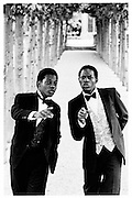 Old Etonions Danny and Henry Matouu (nephews of the deposed President of Uganda Godfrey Binaisa)© Copyright Photograph by Dafydd Jones 66 Stockwell Park Rd. London SW9 0DA Tel 020 7733 0108 www.dafjones.com