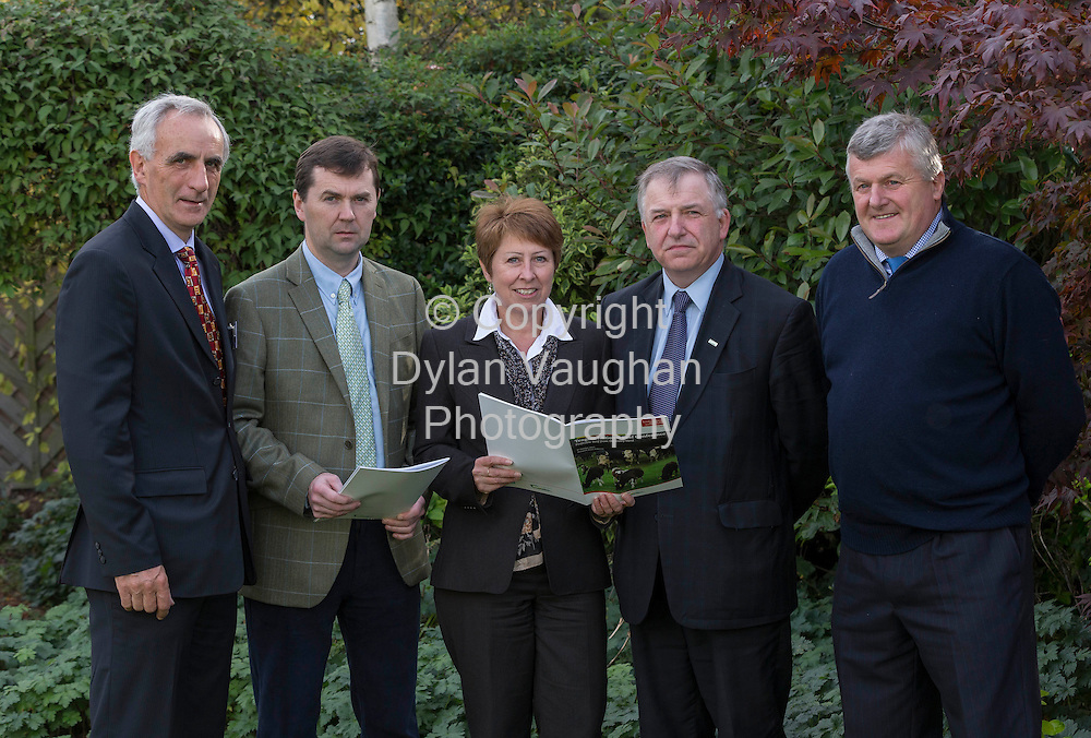 Repro Free no Charge for Repro<br /> 9/10/13<br /> <br /> Pictured at the Teagasc National Beef Conference , Profitable Beef from the Dairy Herd at the Newpark Hotel in Kilkenny was from left John Moloney, Teagasc Regional Manager Kilkenny/Waterford; Aidan Murray, Teagasc Beef Specialist; Maggie Gould Volac; Prof. Gerry Boyle, Teagasc Director and Michael Murphy Tipperary Farmer and Speaker.<br /> <br /> Picture Dylan Vaughan.