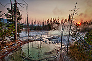 Norris Geyser Basin, Yellowstone National Park, WY, on Sept. 5, 2012.  (Photo by Aaron Schmidt © 2012)