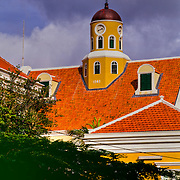Quaint old town Punda on the Dutch Caribbean island of Curacao.