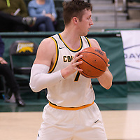 5th year forward Travis Sylvestre (7) of the Regina Cougars in action during the home opener  on November  4 at Centre for Kinesiology, Health and Sport. Credit: /Arthur Images