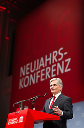 11.01.2015, Museumsquartier, Wien, AUT, SPÖ, Neujahrskonferenz. im Bild Bundeskanzler Werner Faymann (SPÖ) // Federal Chancellor of Austria Werner Faymann (SPOe) before first conference in the new year of the austrian social democratic party at Museumsquartier in Vienna, Austria on 2016/01/11. EXPA Pictures © 2016, PhotoCredit: EXPA/ Michael Gruber