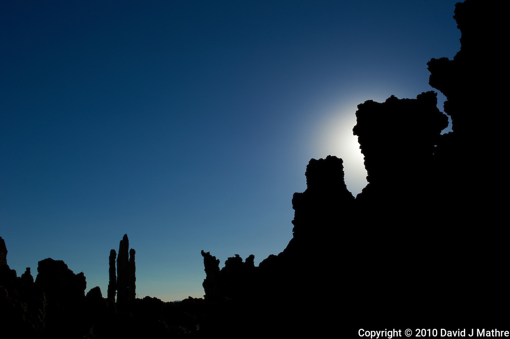 Mono Lake Tufa Tower Silhouettes. Mono Lake Tufa State Natural Reserve, California. Image taken with a Nikon D3s and 50 mm f/1.4G lens (ISO 200, 50 mm, f/16, 1/250 sec).