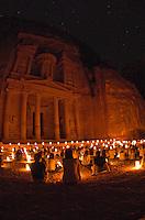 Enjoying the Treasury at Night.Petra, Jordan