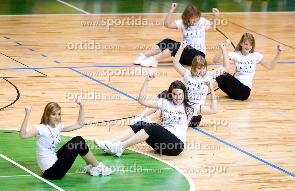 Cheerleaders Daisy Girls during basketball match between KK Krka (SLO) and Crvena Zvezda (SRB) in 7th Round of NLB Adriatic League, on November 7, 2010 in Arena Leona Stuklja, Novo mesto, Slovenia. Krka defeated Crvena Zvezda 89 - 76. (Photo By Vid Ponikvar / Sportida.com)