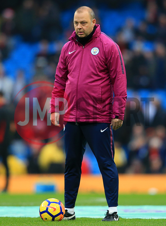 Manchester City coach Rodolfo Borrell watches over the warm up - Mandatory by-line: Matt McNulty/JMP - 23/12/2017 - FOOTBALL - Etihad Stadium - Manchester, England - Manchester City v Bournemouth - Premier League