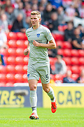 Paul Downing (#5) of Portsmouth FC during the EFL Sky Bet League 1 match between Sunderland and Portsmouth at the Stadium Of Light, Sunderland, England on 17 August 2019.