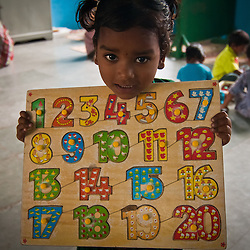 Many young girls never have a chance to go to school in India.  The CRHP Preschool gives these children a head start.