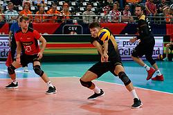 21-09-2019 NED: EC Volleyball 2019 Netherlands - Germany, Apeldoorn<br /> 1/8 final EC Volleyball / Julian Zenger #10 of Germany, Tobias Krick #2 of Germany