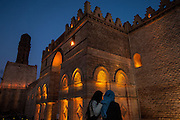 Medieval mosque of Al-Hakim in Islamic Cairo, Egypt
