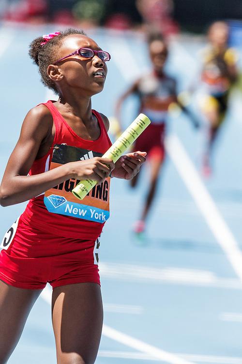 adidas Grand Prix Diamond League Track & Field: youth girls 4x100 relay, Lightning TC
