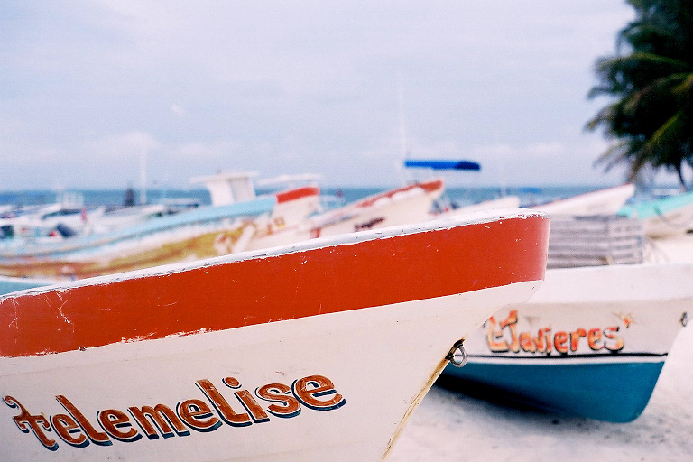 Two boats on Isla Mujeres, Mexico