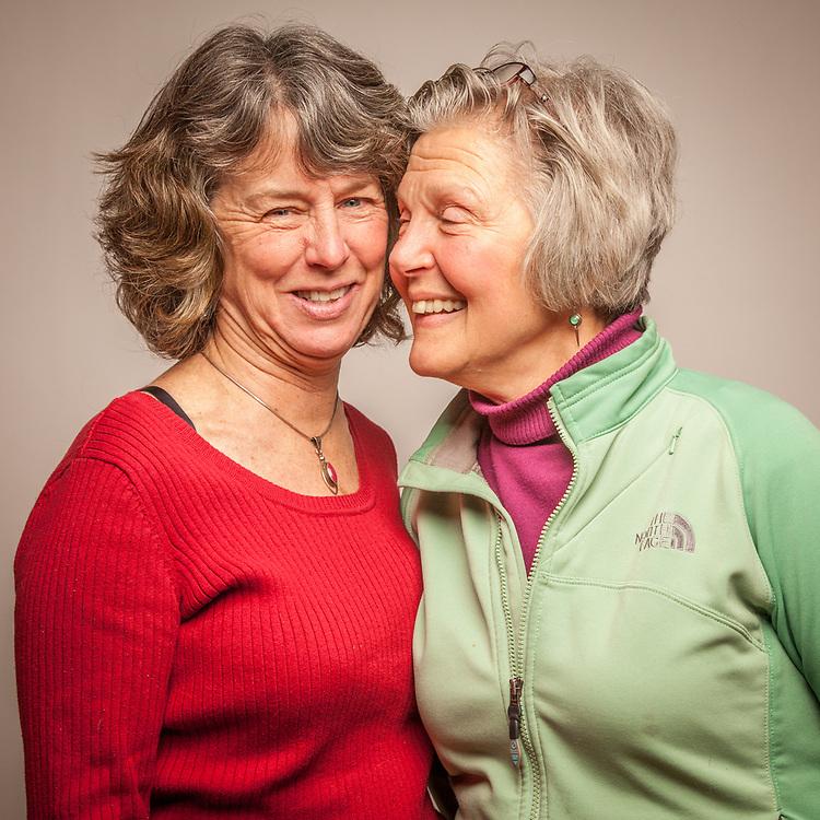 Best Friends Bonnie Headley and Mary Ellen Ashton on Mary Ellen's birthday, Anchorage.