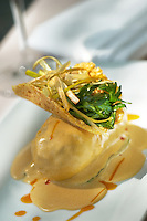 Seabass roll in chipotle sauce