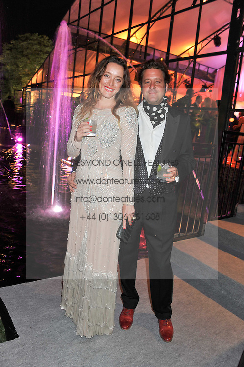 ALICE TEMPERLEY and her husband LARS VON BENNIGSEN at the Raisa Gorbachev Foundation Gala held at the Stud House, Hampton Court, Surrey on 22nd September 22 2011