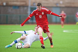 YSTRAD MYNACH, WALES - Thursday, February 19, 2015: Wales' Nathan Broadhead in action against Czech Republic during a friendly match at the Centre of Sporting Excellence. (Pic by Carl Robertson/Propaganda)
