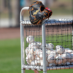 February 20, 2011; Port Charlotte, FL, USA; A detailed view of a basket filled with balls during Tampa Bay Rays spring training at Charlotte Sports Park.  Mandatory Credit: Derick E. Hingle