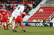 Swindon - Saturday March 20th, 2010: Grant Holt of Norwich scores his sides 1st goal and celebrates during the Coca Cola League One match at The County Ground, Swindon. (Pic by Paul Chesterton/Focus Images)