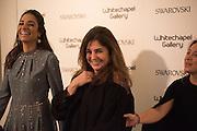 MARIA SUKKAR;  MARYAM EISLER; MAYA RASAMNY, Peter Doig  was the fourth artist to receive the  annual Art Icon award. Whitechapel Gallery. London.  26 january 2017