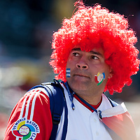 15 March 2009: A fan of Cuba sheers for his team against Japan during the 2009 World Baseball Classic Pool 1 game 1 at Petco Park in San Diego, California, USA. Japan wins 6-0 over Cuba.
