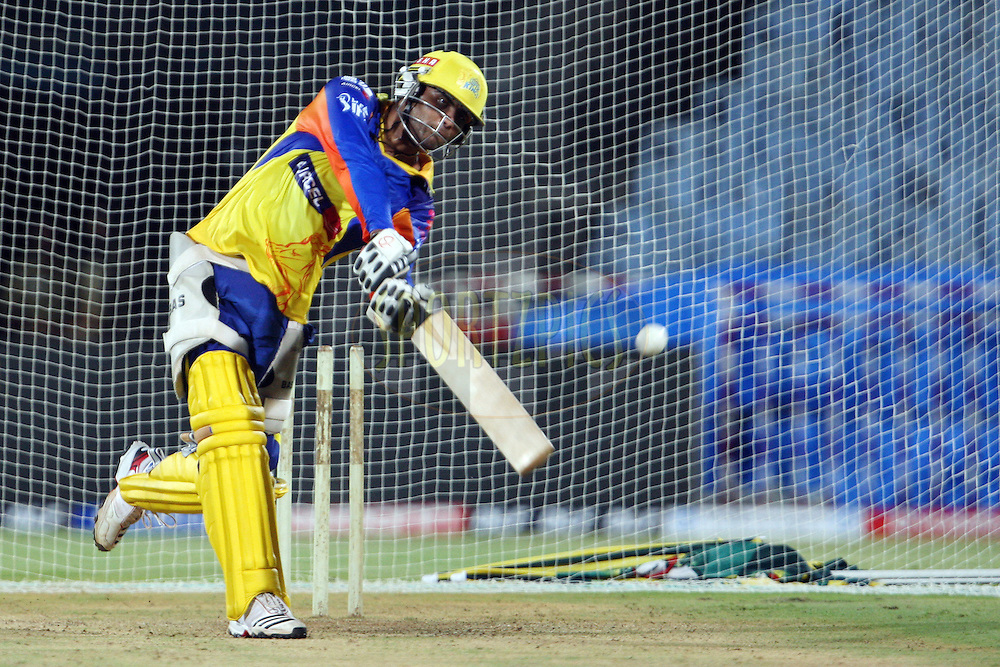 Ravindra Jadeja during the practice session of the Chennai Super Kings held at the MA Chidambaram Stadium in Chennai, Tamil Nadu, India on 18 April 2012...Photo by Jacques Rossouw/BCCI/SPORTZPICS .