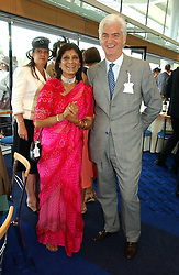 ROSHAN SODHI and STEVEN LUSSIER at the King George VI and The Queen Elizabeth Diamond Stakes sponsored by De Beers for the 35th year held at Ascot Racecourse, Berkshire on July 29th 2006.    De Beers hosted a lunch before the races for about 250 people.<br />