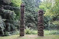 Totem Poles at VanDusen Botanical Garden, Vancouver, B.C.