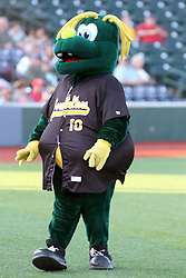 07 June 2013:   Mascot Corny during a Frontier League Baseball game between the Southern Illinois Miners and the Normal CornBelters at Corn Crib Stadium on the campus of Heartland Community College in Normal Illinois