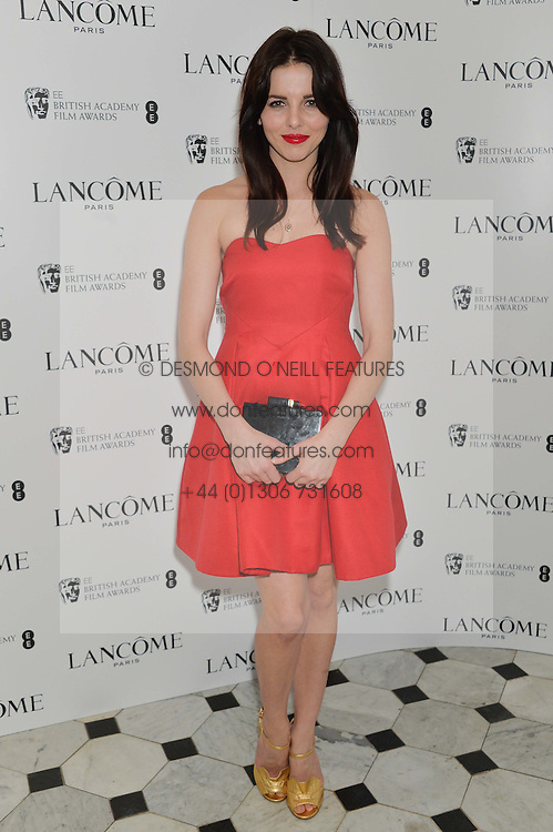 OPHELIA LOVIBOND at the Lancôme pre BAFTA party held at The London Edition, 10 Berners Street, London on 14th February 2014.