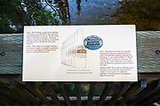 Interpretive sign, Cave and Basin National Historic Site, Banff National Park, Alberta, Canada