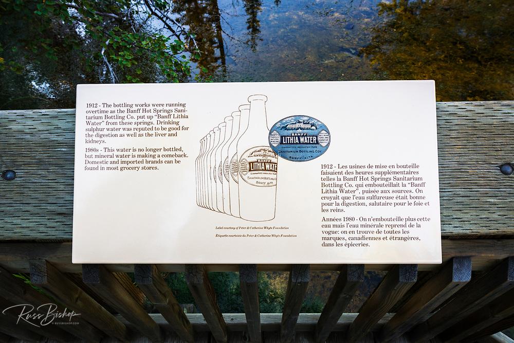Interpretive sign, Cave and Basin National Historic Site, Banff National Park, Alberta, Canada