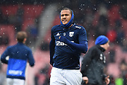 Salomon Rondon (9) of West Bromwich Albion warming up before the Premier League match between Bournemouth and West Bromwich Albion at the Vitality Stadium, Bournemouth, England on 17 March 2018. Picture by Graham Hunt.