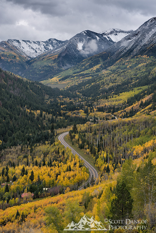 Heading up to McClure Pass, Colorado.