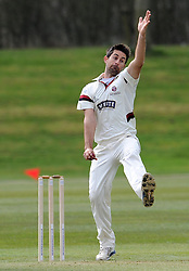 Somerset's Tim Groenewald - Photo mandatory by-line: Harry Trump/JMP - Mobile: 07966 386802 - 23/03/15 - SPORT - CRICKET - Pre Season Fixture - Day 1 - Somerset v Glamorgan - Taunton Vale Cricket Club, Somerset, England.