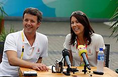 20080811 Olympics Beijing 2008, Pressemøde med Kronprins Frederik og Kronprinsesse Mary.