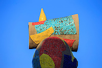 The Dona I Ocell (Bird and Woman) statue by Joan Miro in downtown Barcelona, Spain