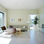 Halden Prison, Norway, June 2014:<br /> Living room in the family house. The inmates can book the family house when they have overnight visits.<br /> -- No commercial use --<br /> Photo: Knut Egil Wang/Moment/INSTITUTE
