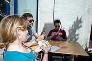 Roma 12 Giugno 2013<br /> Il Gioco è una cosa seria!<br /> Manifestazione contro il gioco d' azzardo presso la sede di Assotrattenimento Gioco Lecito, aderente alla Confindustria in via Barberini, degli attivisti dell' ex Cinema Palazzo. La protesta è per la denuncia che Assotrattenimento Gioco Lecito, ha presentato contro SenzaSlot un associazione impegnata contro il proliferare del gioco d'azzardo e delle slot machine nei bar. Partita a tresette con Elio Germano