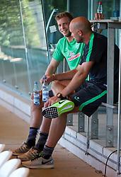 01.07.2015, Weserstadion, Bremen, GER, 1. FBL, SV Werder Bremen, Trainingsauftakt, im Bild Felix Wienwald (SV Werder Bremen #) im Gespräch mit Christian Vander (Torwarttrainer SV Werder Bremen) // during a Trainingssession of German Bundesliga Club SV Werder Bremen at the Weserstadion in Bremen, Germany on 2015/07/01. EXPA Pictures © 2015, PhotoCredit: EXPA/ Andreas Gumz<br /> <br /> *****ATTENTION - OUT of GER*****